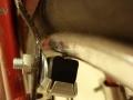 Detalle zapata de freno y llanta Westwood | Bicicleta Orbea antigua de varillas años 40 restaurada